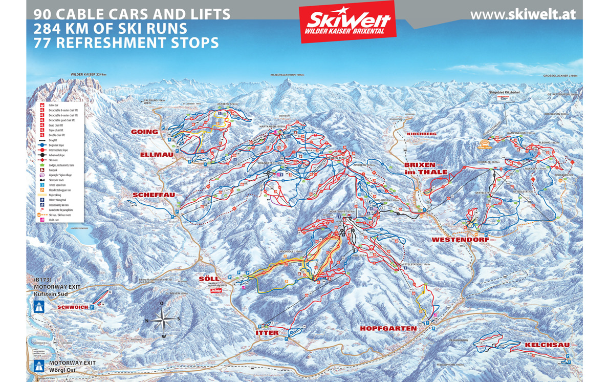 skiwelt-wilder-kaiser-ski-map