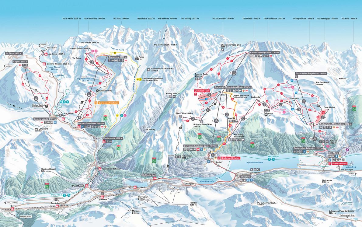 corvatch-ski-map