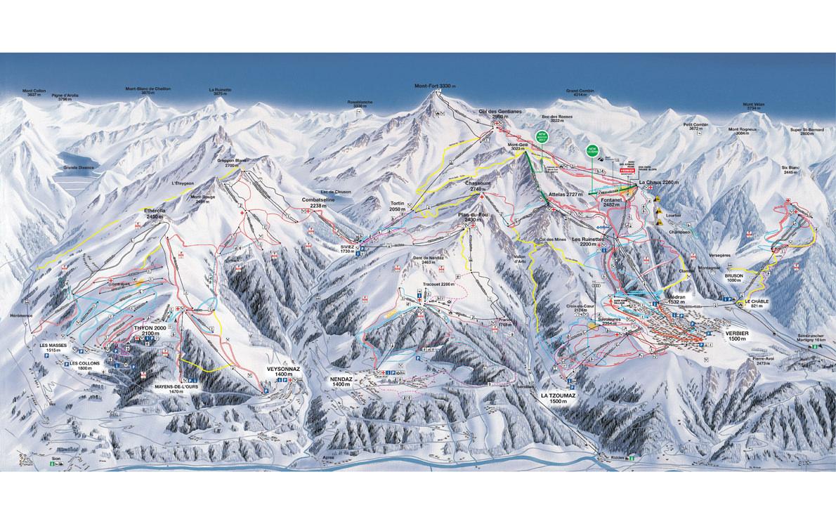 verbier-ski-map